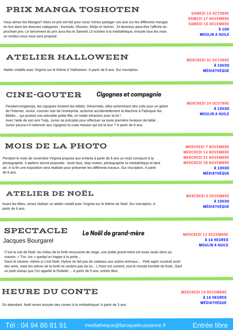 Programme animations jeunesse sept 18 2